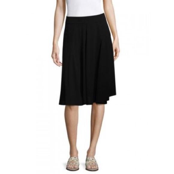 54f3d9075 Eileen Fisher Dresses & Skirts - Eileen Fisher | Gored Knee Length Black  Skirt